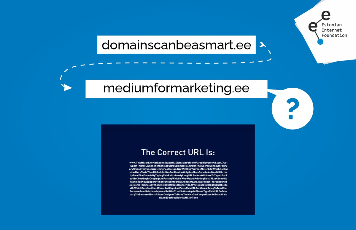 Domain as a vehicle for a marketing message? Why not!