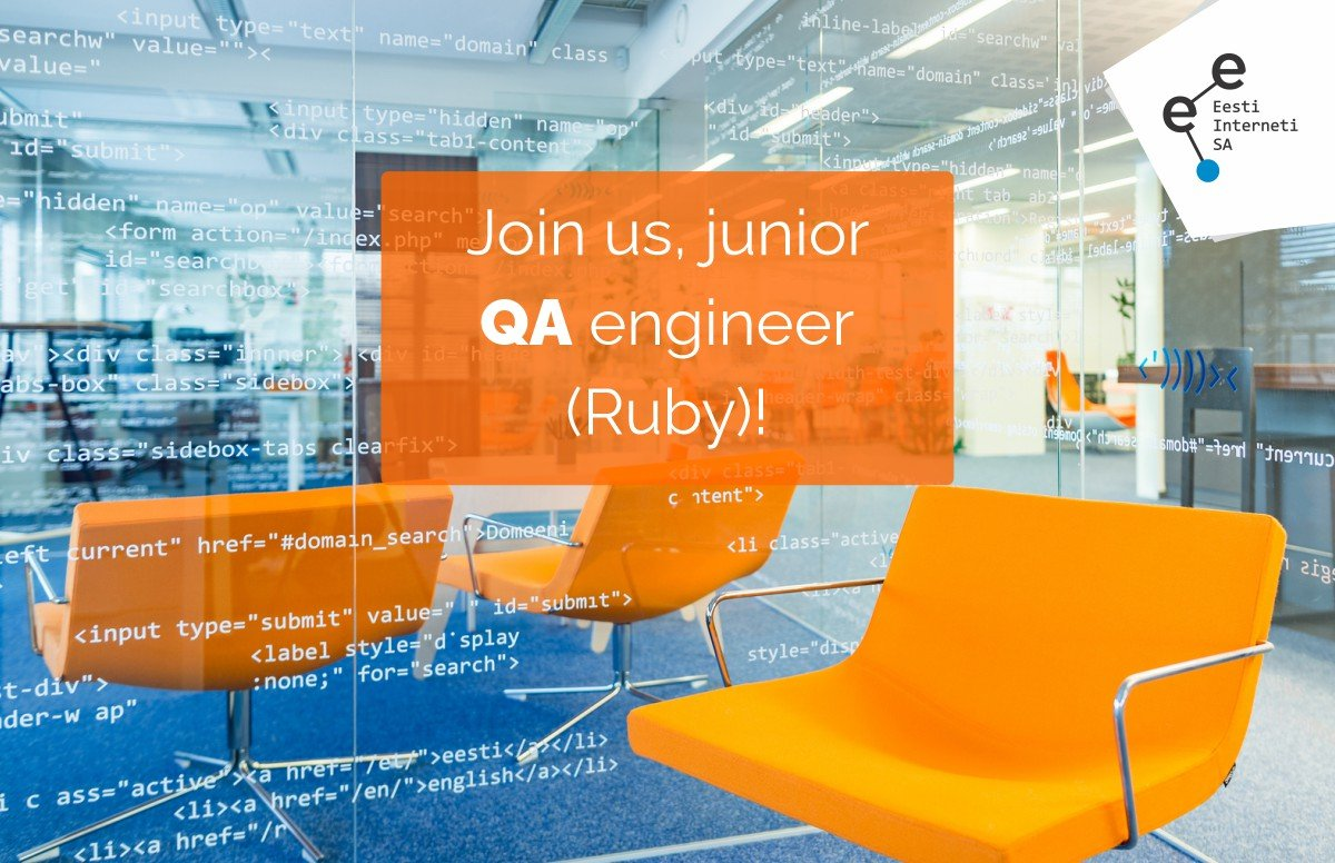 We are looking for QA junior engineer